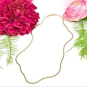 """VINTAGE⚜️Golden ART DECO Link Chain 20"""" Necklace"""